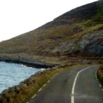 A road along the Ireland coast