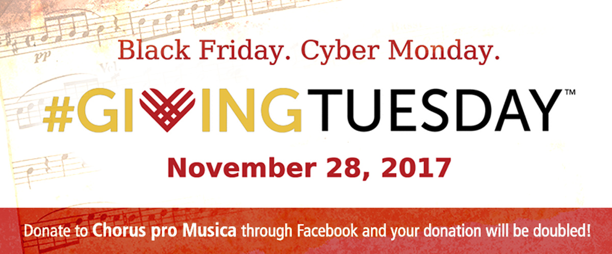 Donate This Givingtuesday Chorus Pro Musica