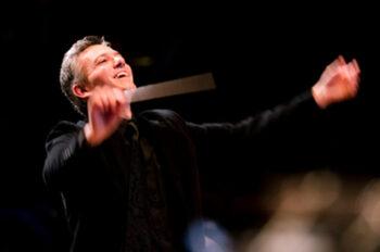 Jamie Kirsch conducting Audubon by James Kallembach